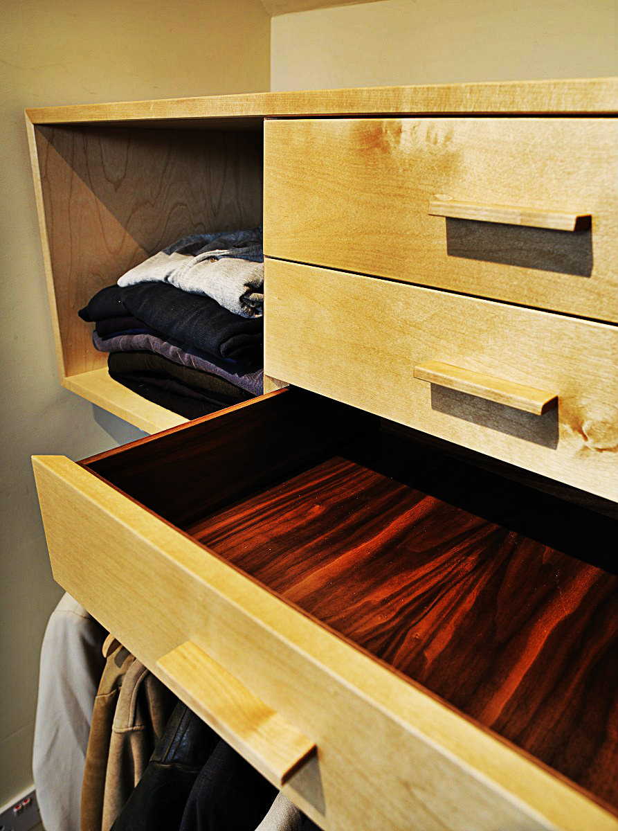 Birch And Walnut Walk In Wardrobe By David Watson
