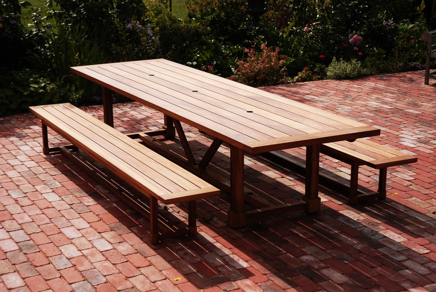 Custom Made Outdoor Table And Benches Norfolk