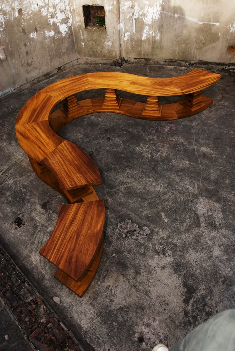 Handmade Iroko Outtoor Bench With Versatile Love Seat or Bench Option