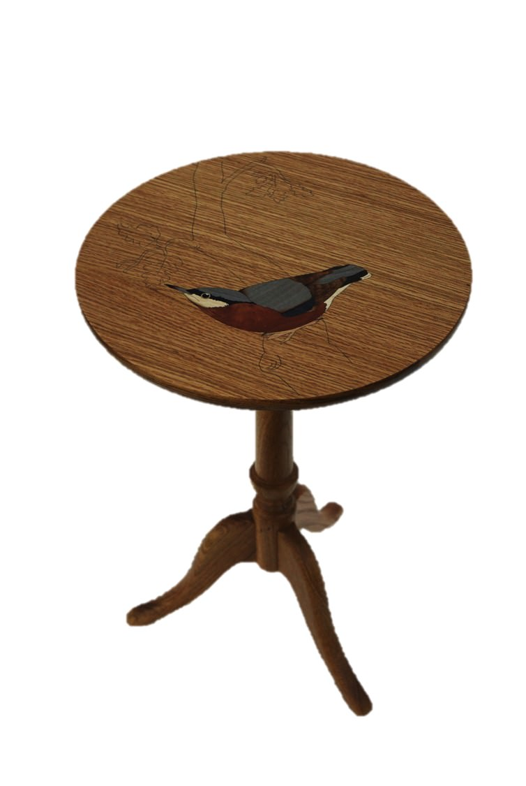 Bespoke Table With Bird Design