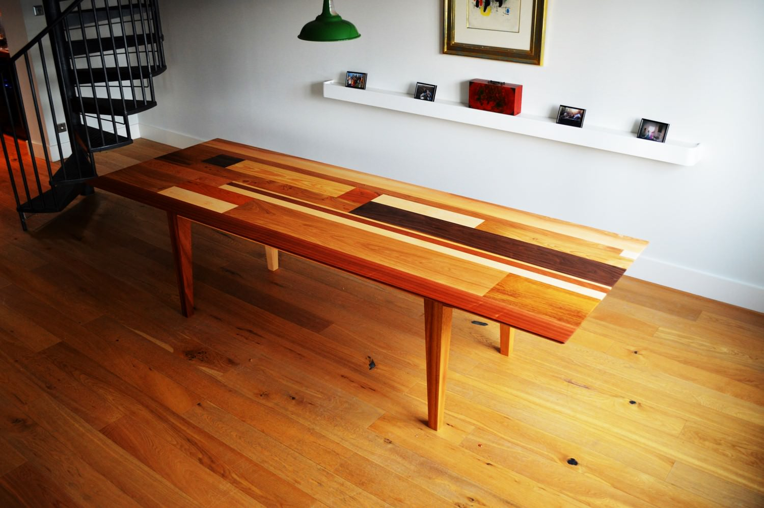 Bespoke Dining Table Handmade From Cedar Yellow Pine And Pitch Pine