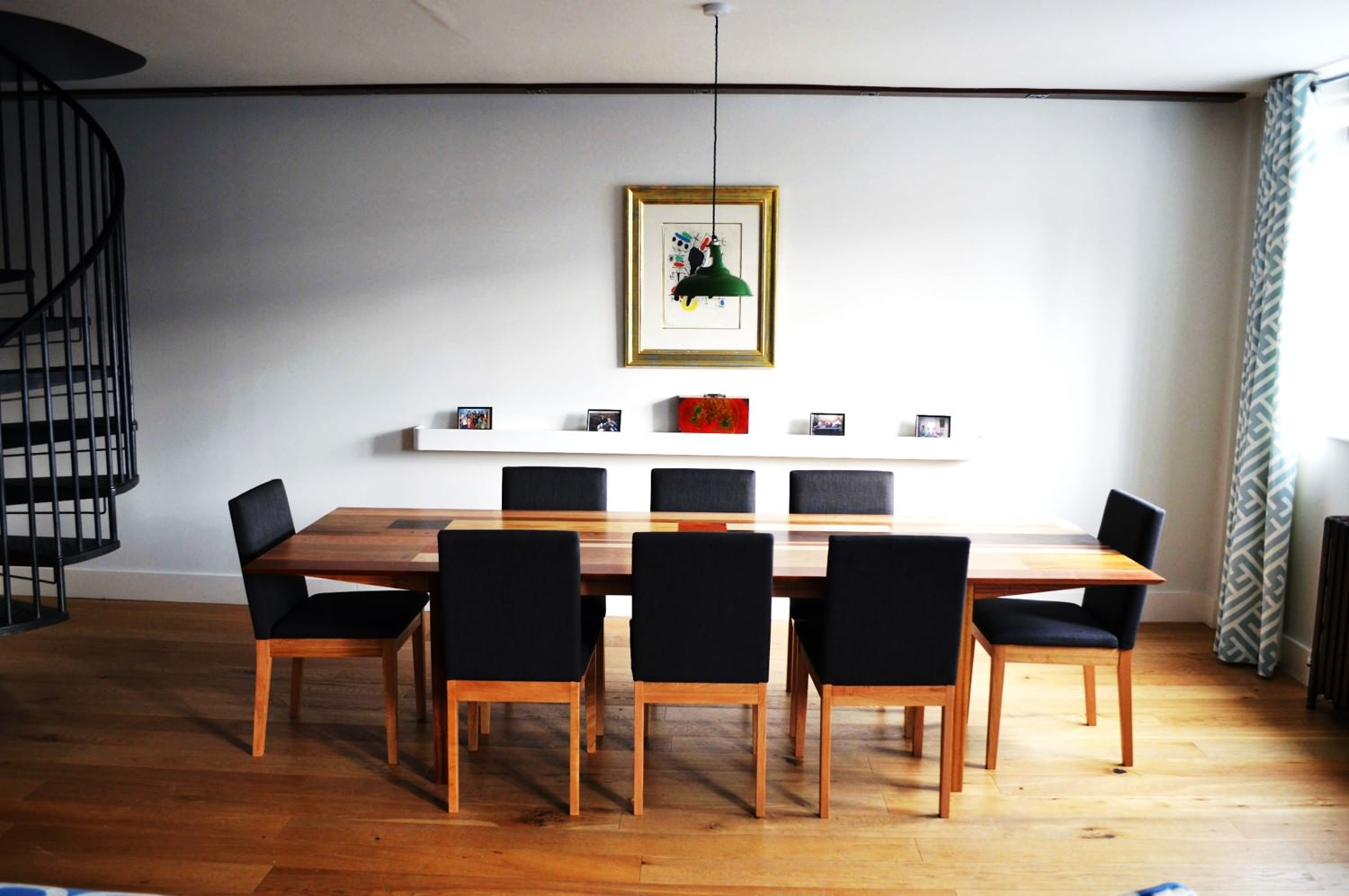 Bespoke Dining Table Using Sepele Elm Yew And Mahogany