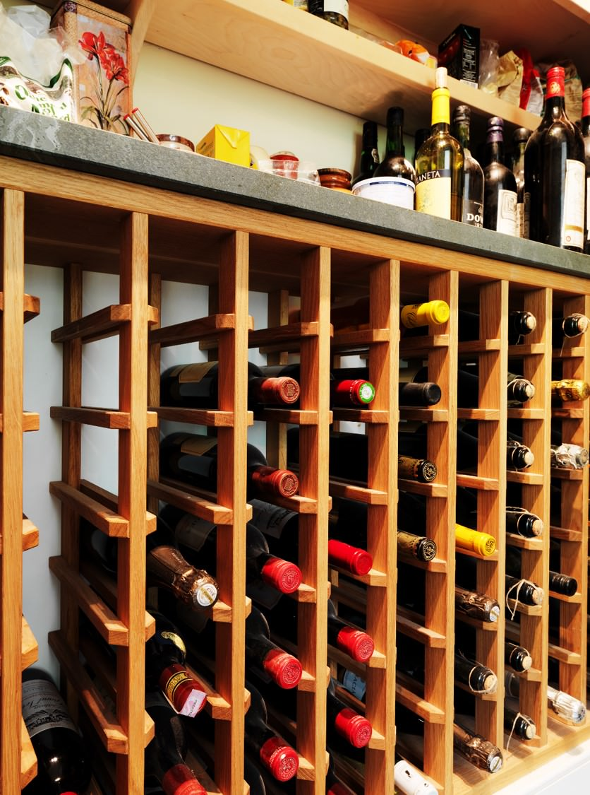 Custom Fitted Handmade Wine Rack Created For Pantry In Renfrewshire