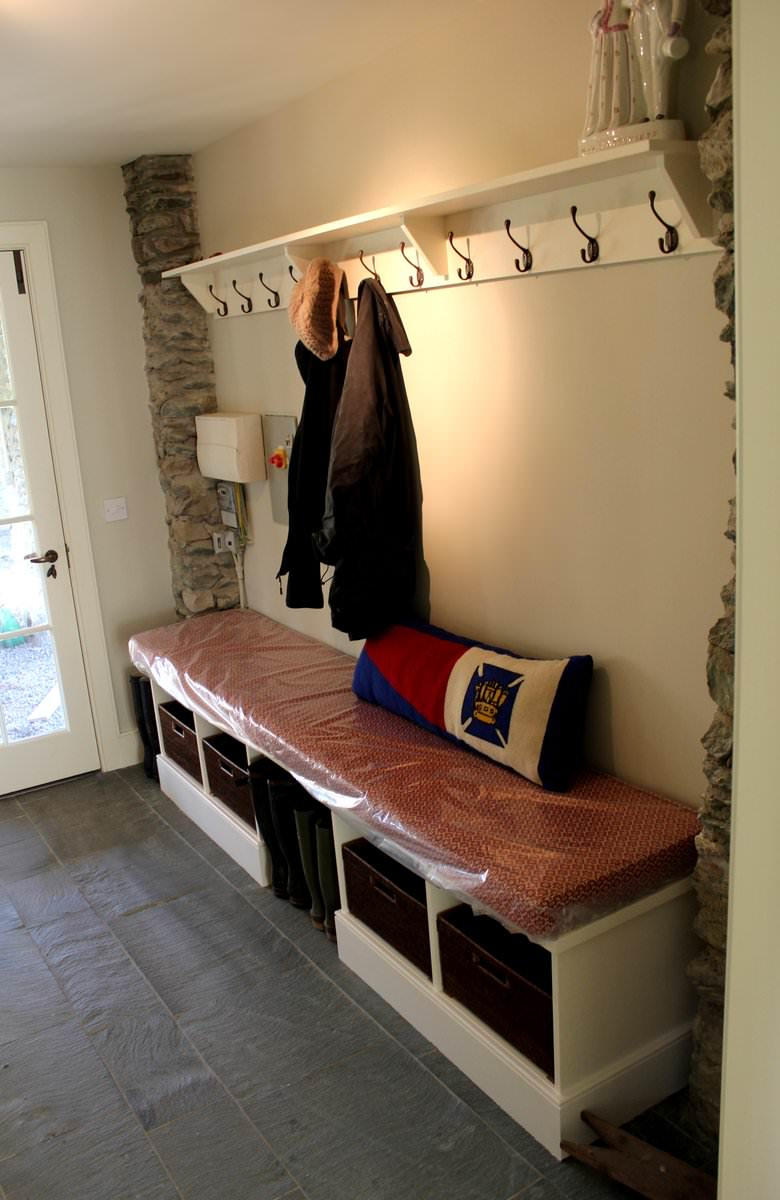 Bespoke Utility Room Storage And Seating
