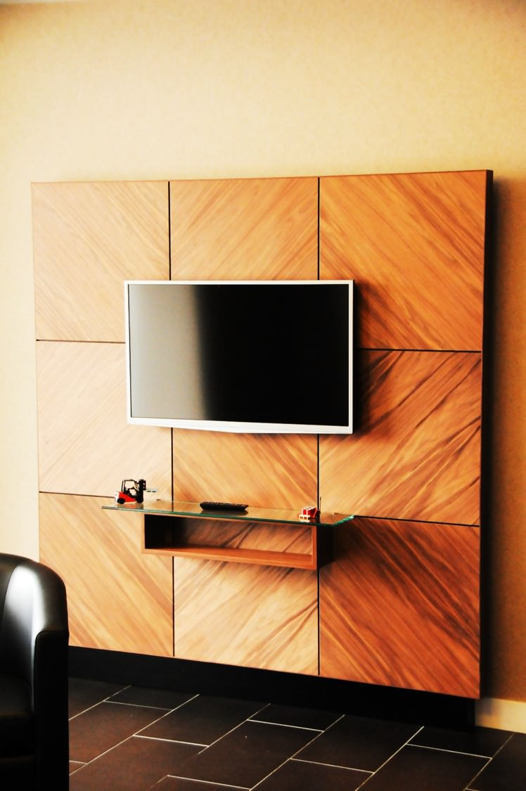 Walnut Boardroom TV Display