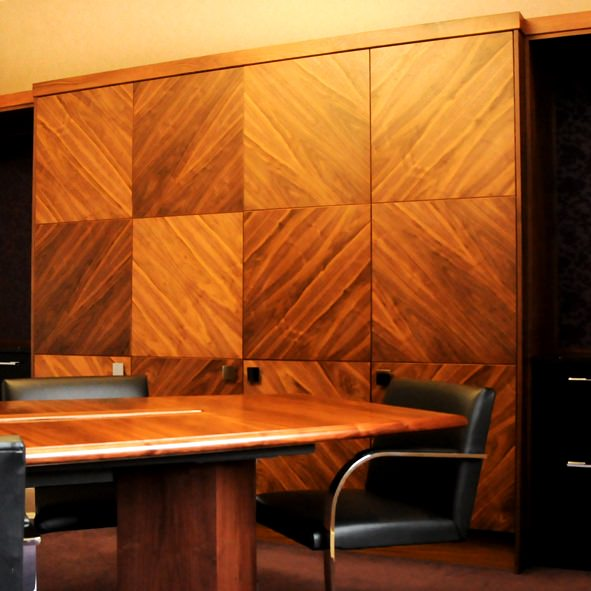 Bespoke Walnut Boardroom Furniture By David Watson