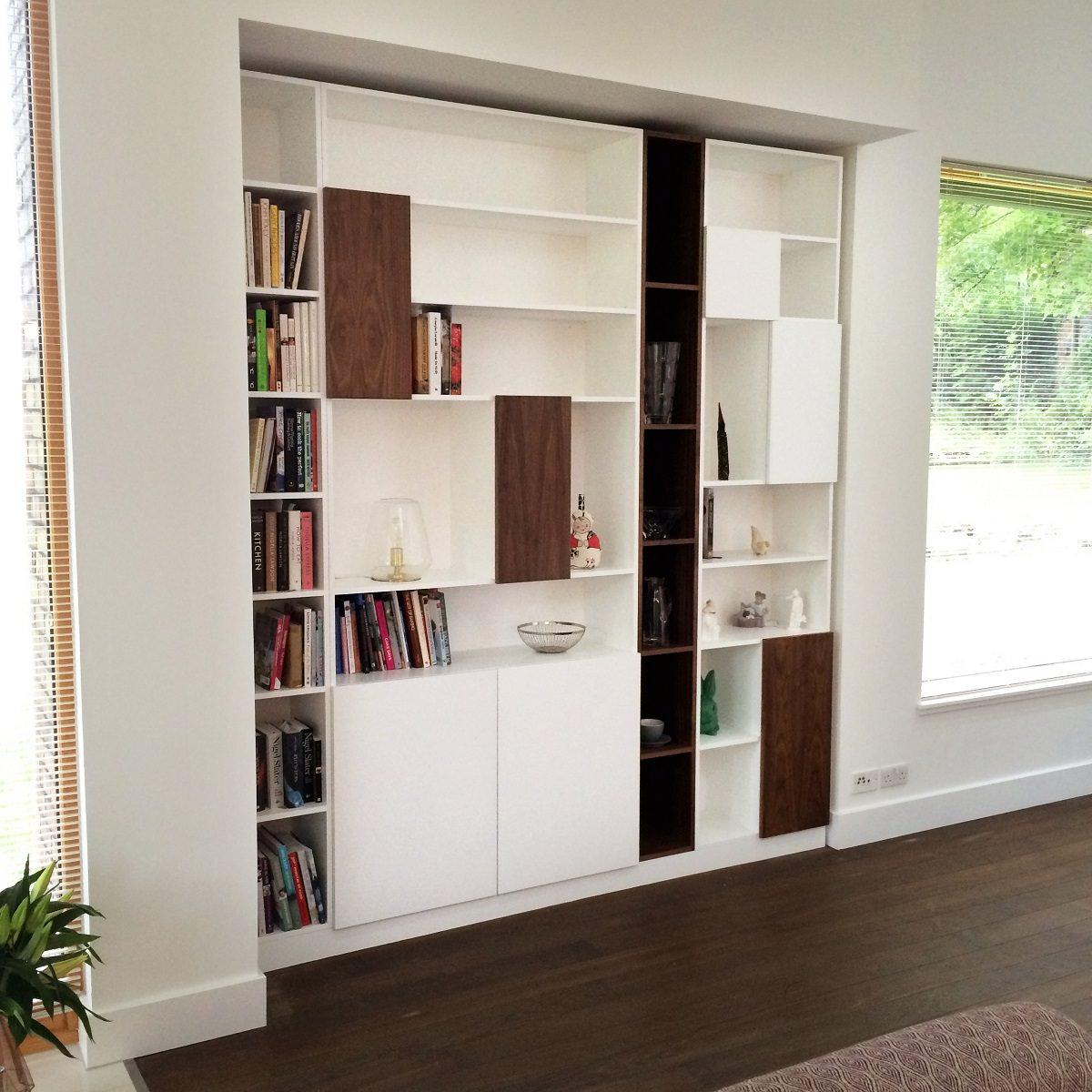 Handmade Walnut Bookcase By David Watson Cabinet Maker