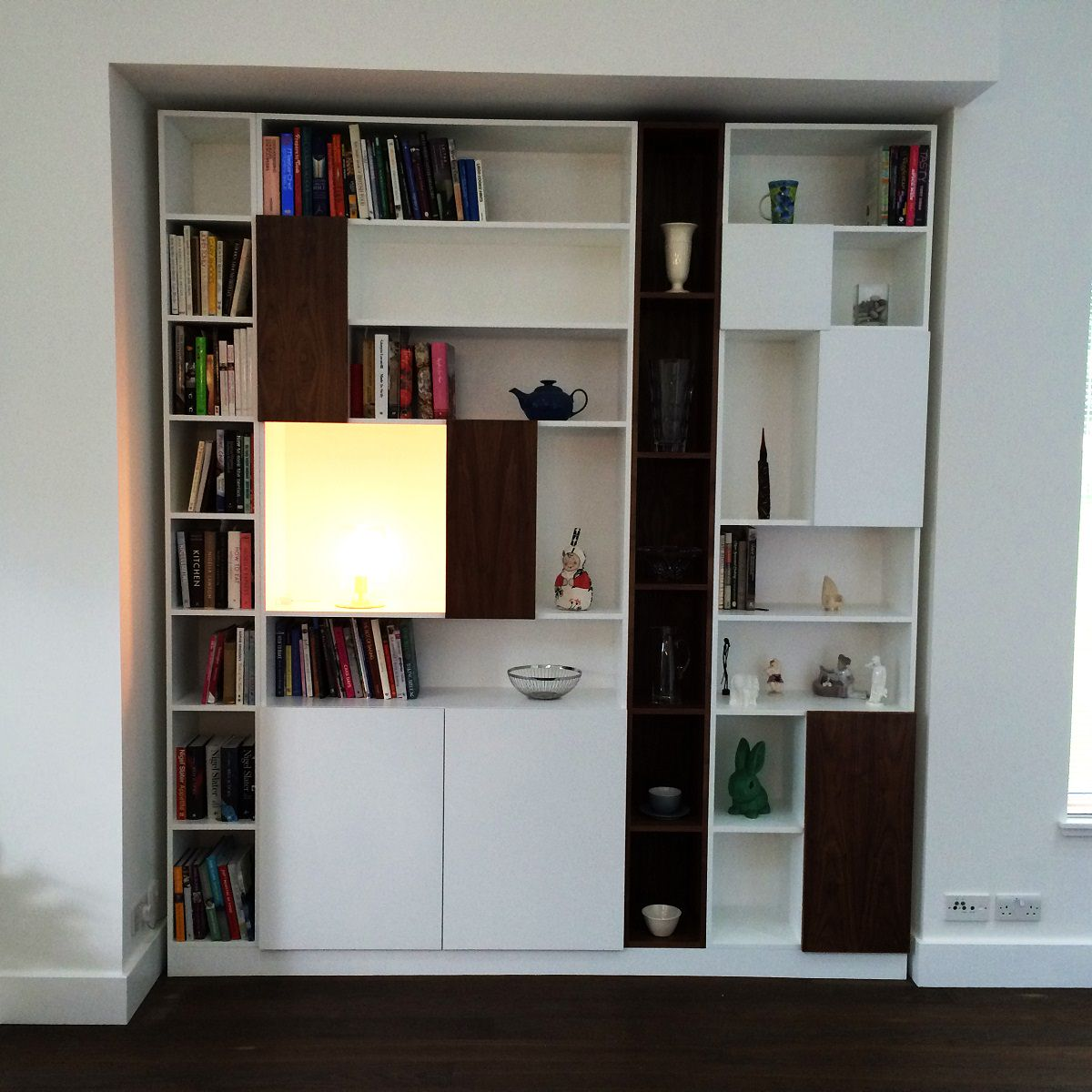 Fitted Bookcase Handmade In Scotland
